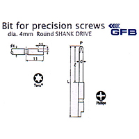Bit for Precision Screws